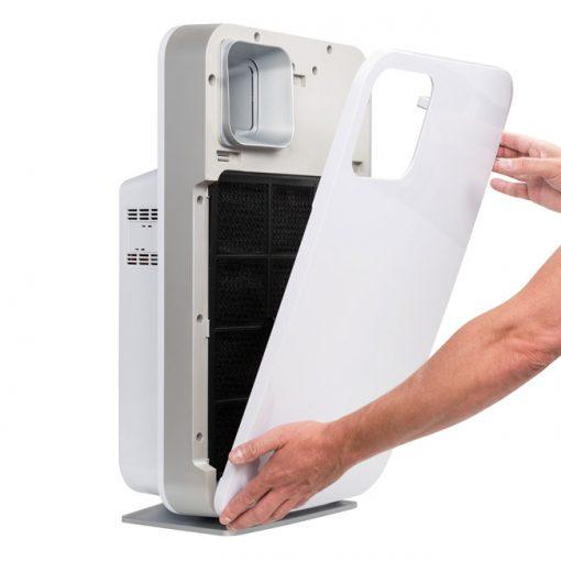 De cover van de ProAirTech ZX9000 is gemakkelijk los te maken. Ionisator luchtreiniger